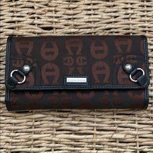 Étienne Aigner Brown & Black Wallet